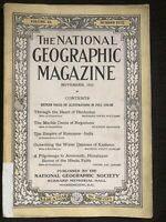 1921-11 NOVEMBER NATIONAL GEOGRAPHIC HINDUSTAN-INDIA-KASHMIR-AMERNATH-16 p COLOR