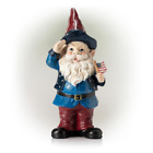 12 In. Tall Outdoor Patriotic Garden Gnome Saluting Yard Statue Decoration