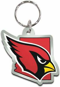 Wincraft NFL Arizona Cardinals State Shaped Acrylic Keychain Delivery 2-4 Days
