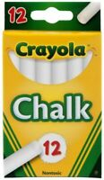Crayola Chalk, White Colors 12 Count Draws, Write Smooth Clean lines, Non-Toxic