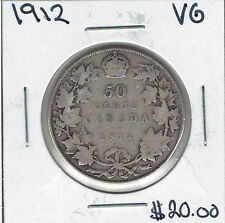Canada 1912 Silver 50 Cents VG