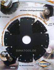 1x 115mm Cedima Universal Diamanttrennscheibe AR-Multicut für Winkelschleifer