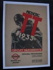 Card Circuit van Drenthe Nederladsche TT 1933 (Assen)