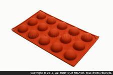Paderno  Moule demi-sphère | Moule flexible en silicone - 15 petites demi-sphère