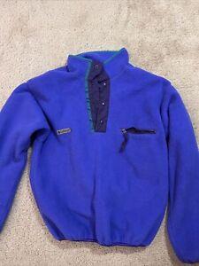 Vintage Columbia Ski pull over Fleece Liner Jacket Men's Size Medium 1990's
