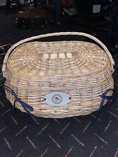 Tommy Bahama Highlander Picnic Basket Wicker Brand New NWT