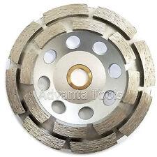 """4.5"""" Double Row Concrete Diamond Grinding Cup Wheel 16 Segs - 7/8""""-5/8"""" Arbor"""