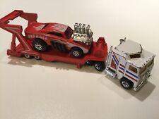 1982 Matchbox Car Transporter & 1991 Matchbox Kenworth Truck W/ MB #8 Red Rider