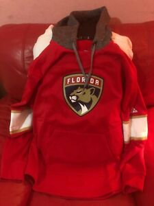 adidas florida panthers NHL  Jersey Hoodie Nwt Size L Mens Red