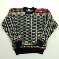 Retro Mens Vintage Nordic CHUNKY Pullover XS  Wool Sweater Jumper Knit