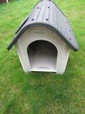 Large Plastic Dog Kennel Weatherproof Pet House In & Outdoor Animal Shelter