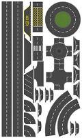 76mm Tarmac Effect Road Layout Kit, suit OO Gauge Hornby etc. Self Adhesive