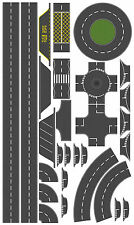 76mm Tarmac Effect Road Layout Kit, suit OO Gauge Hornby etc. Self Adhesive