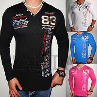 Jeel Herren Sweat-Shirt T-Shirt Clubwear V-Neck Longsleeve V-Neck Langarm L.2.16