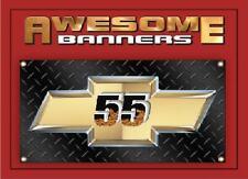 55 CHEVY HUGE 2X4 FT BANNER TREADPLATE CAR SHOW