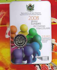 San Marino    2 Euro Commemorative  BU  2008   Dialogo Interculturale