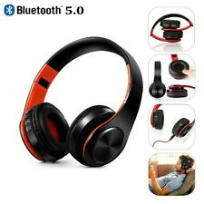 Bluetooth Headphones Over Ear Wireless HiFi Stereo Headset For Sports Game Tv Fm