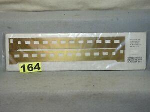 SET OF TWO HO #173-37 BRASS CARS SIDES FOR NEW YORK CENTRAL 22 ROOMETTE COACH
