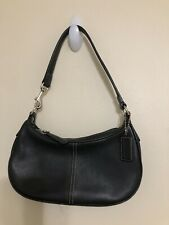Coach Black Small Leather Womens Hand Bag 1990s Older Style