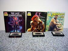 3 the Last Straighter Indiana Jones Doom ET Read-Along Books Cassette Tape