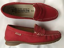 Chaussures mocassins Mobils Méphisto neuves rouge 37,5