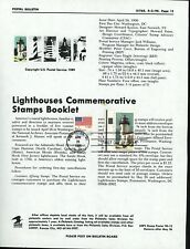 Ranto Cachet US FDC #2470 on 2470-74 Unoffic Souv Page Admiralty Head Light 1990