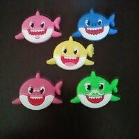 5 Sharks High Quality Silicone Shoe Charms for Crocs Gift  *USA Seller*