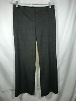 The Limited Size 4 Cassidy Fit Black Tweed Wide Leg Dress Pants Wool Blend Lined