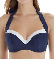 Panache NAVY/WHITE Anya Cruise Molded Bikini Swim Top, US 38I, UK 38G