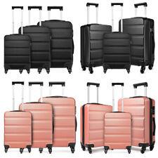 Ryanair Cabin Hand Luggage Suitcase Set 4 Wheels ABS Travel Trolley Hard Case