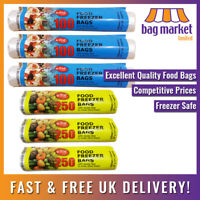 Strong Clear Food Freezer Bags on a Roll!   9x13, 12x18   Fruit/Veg/Meat/Storage
