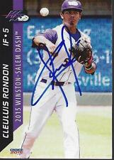 Cleuluis Rondon 2015 Winston-Salem Dash Signed Card