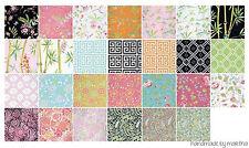 "fabric charm Chinoiserie Chic Free Sprit Dena Designs Die Cut 5 inch 42 pc 5"""