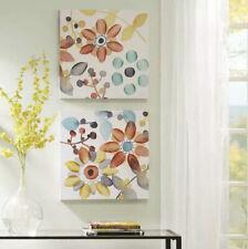 Sweet Florals Canvas With Embellishment 2 Pcs Set