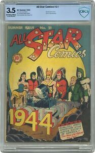 All Star Comics #21 CBCS 3.5 1944