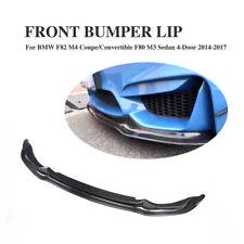 Carbon Fiber Front Bumper Lip Spoiler Body Kits for BMW F80 M3 F82 M4 4-Dr 14-17