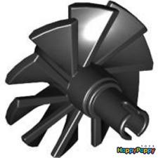 Lego 2x Propeller 10 Blätter Schwarz Black Engine Large Center x577 Neuware New