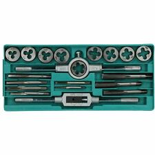 20pc Carbon Steel Tap & Die Metric Thread Cutter M3 - M12 With Wrenches