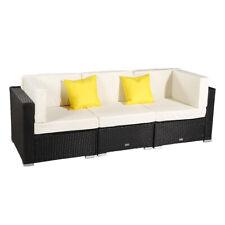 3 Pcs Garden Pe Wicker Rattan Sofa Set Couch Cushion Patio Outdoor Furniture Us