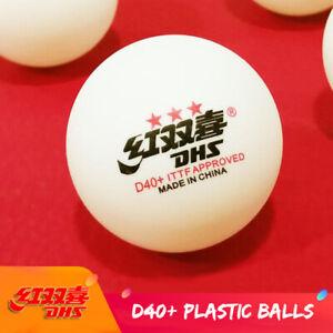 Wholesale DHS D40+ 3Star Table Tennis Balls White Orange Plastic PingPong Balls
