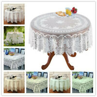 White Lace Tablecloth Rectangle Round Vintage Table Cloth Cover Party Wedding