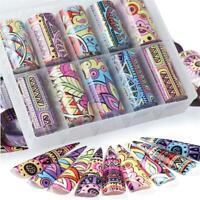 Transfer Paper  Holographic Foils Nail Art Stickers Retro Flower Design