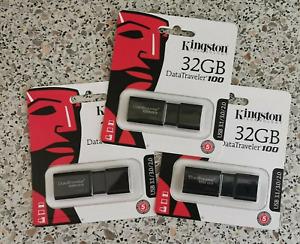 Von Deutschem Händler Original Kingston USB STICK  DT100G3  USB3.0 32GB NEU