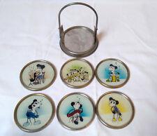 ***Alte Antike Glas Untersetzer 20er/30er Jahre Mickey Mouse Micky Maus***