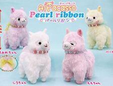 Japan Authentic Amuse Alpacasso Alpaca Pearl Ribbon Standard Plush Soft Kawaii
