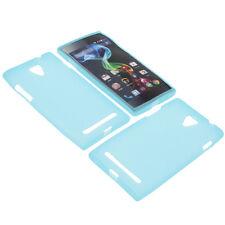 Tasche für MEDION Life P4502 Handytasche Schutz Hülle TPU Gummi Case Blau