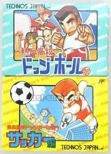 "FAMICOM NES""NEKKETSU HIGH SCHOOL DODGEBALL CLUB SOCCER""KUNIO KUN BOXED SET JAPAN"