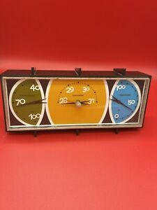 MID CENTURY MODERN DESK TOP BAROMETER THERMOMETER MADE IN USA