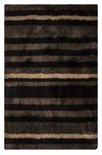 Gestreifte Teppiche aus Baumwollmischung Handgewebte