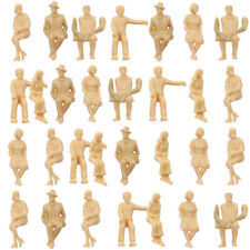 P30SB 60pcs all Seated 1:30 UnPainted Figures White G